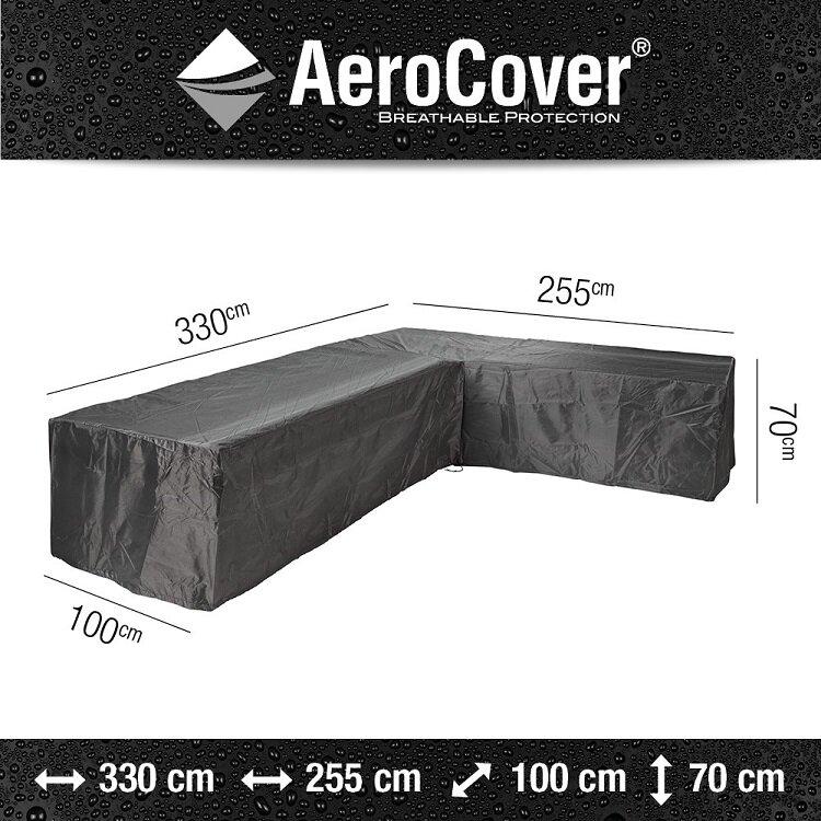 AeroCover loungesethoes hoekset L-vorm rechts 330 x 255 x 100 x 70 cm