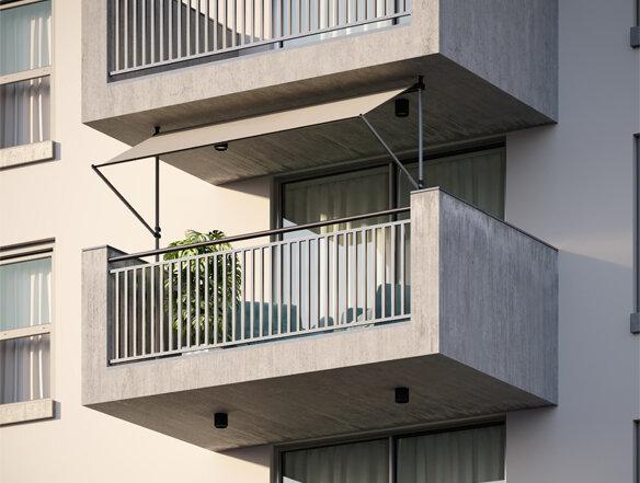Coolfit balkon zonnescherm koppelstuk