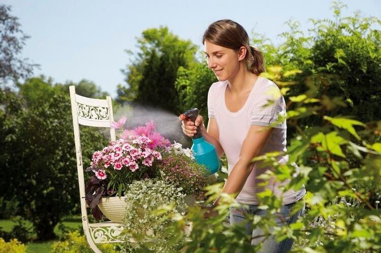 Gebruik Gardena Comfort plantenspuit