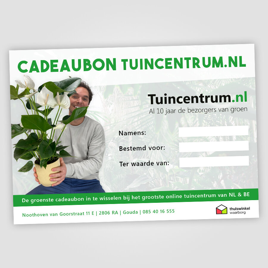 Cadeaubon Tuincentrum.nl voorkant