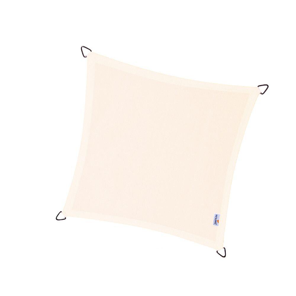 Coolfit schaduwdoek vierkant - Gebroken Wit