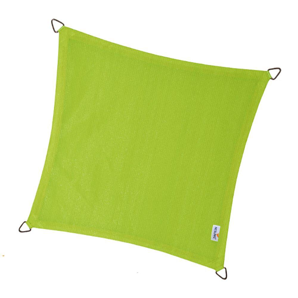 Coolfit schaduwdoek vierkant - Lime Groen