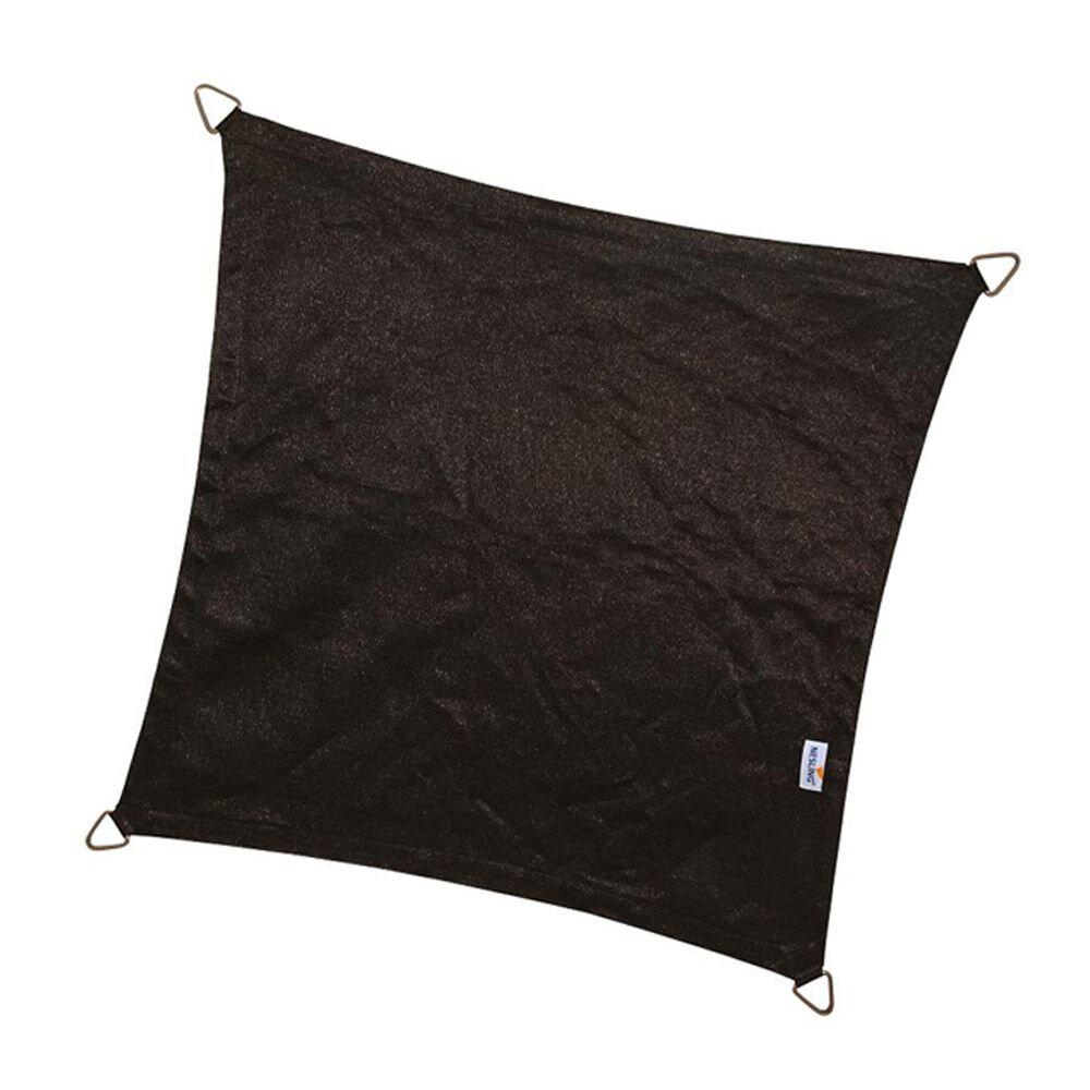 Coolfit schaduwdoek vierkant - Zwart