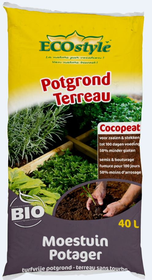 Ecostyle Cocopeat Moestuin Potgrond