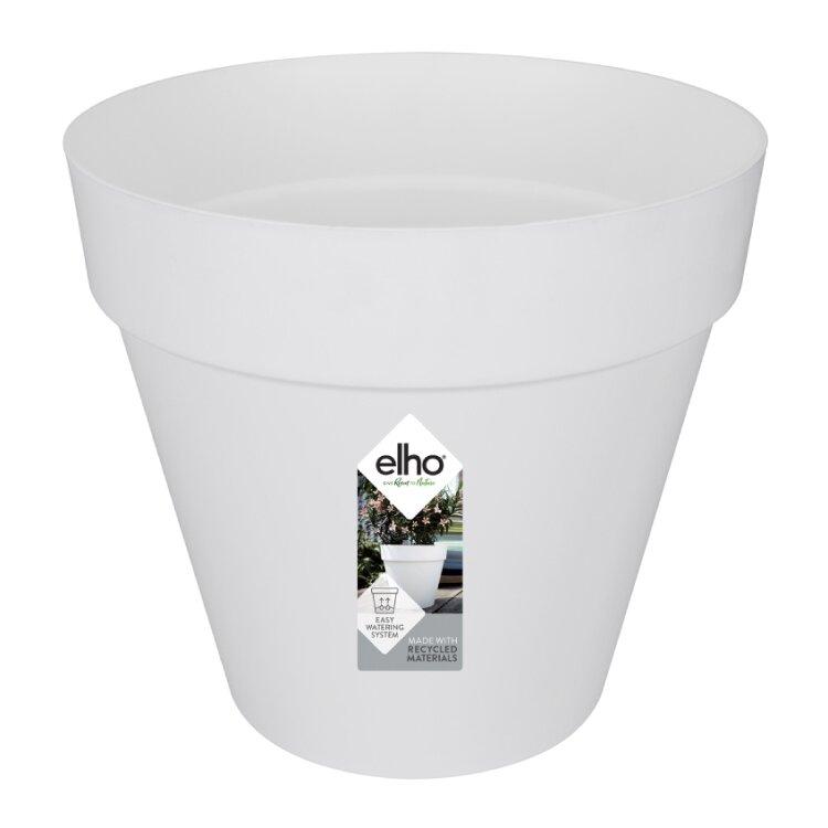 Elho loft urban rond wit met logo