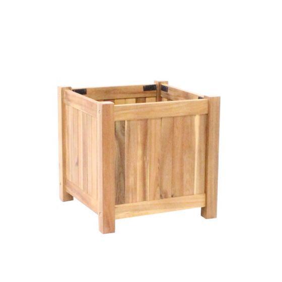Planter hardhout vierkant (40 x 40 x 40 cm)