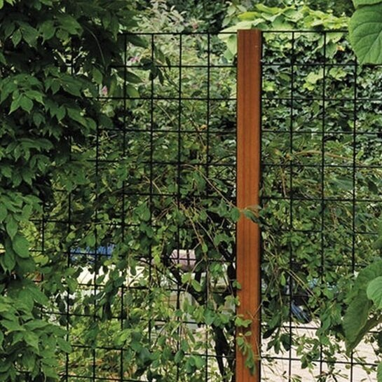 Gaaspaneel zwarte PVC coating 180 x 90 cm