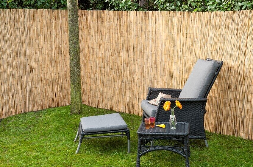 Nature tuinscherm rietmat bamboe
