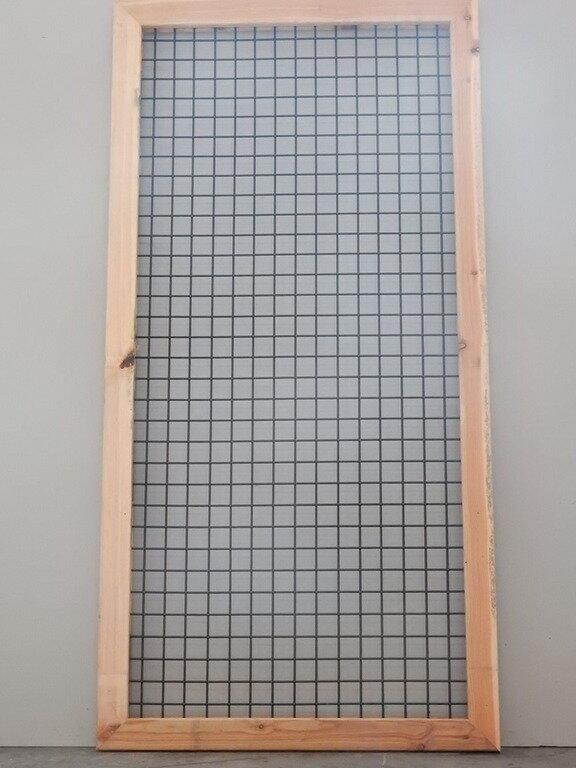 Lariks kaderscherm zwart 180 x 90 (fijnmazig)