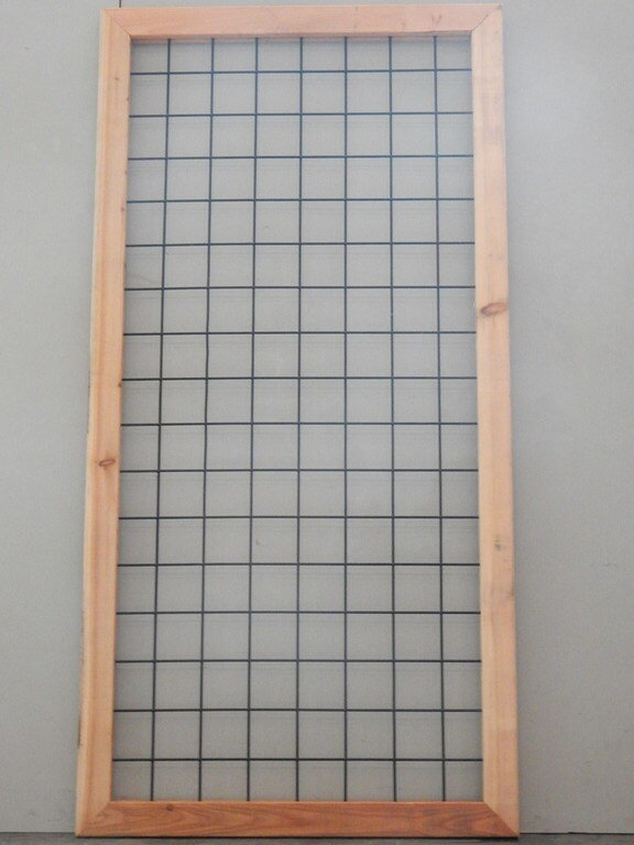 Lariks kaderscherm zwart 180 x 90 cm