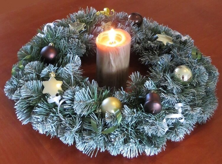 Kerstkrans Colorado sfeerfoto
