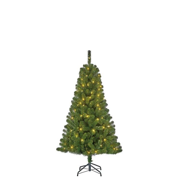 Kunstkerstboom groen inclusief LED-verlichting 155 cm