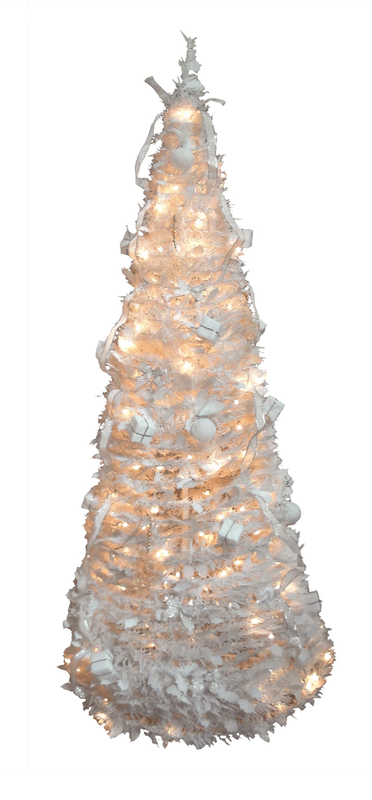 Kunstkerstboom one minute tree wit 300 cm