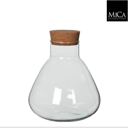 Mica Emily glazen vaas met kurk (H24,5 x D22,5 cm)
