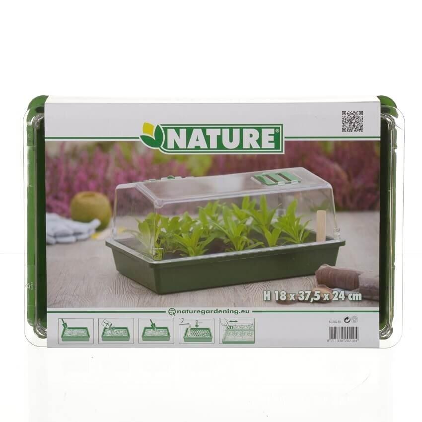 Nature kweekkas met ventilatie (H18 x 37,5 x 24 cm)