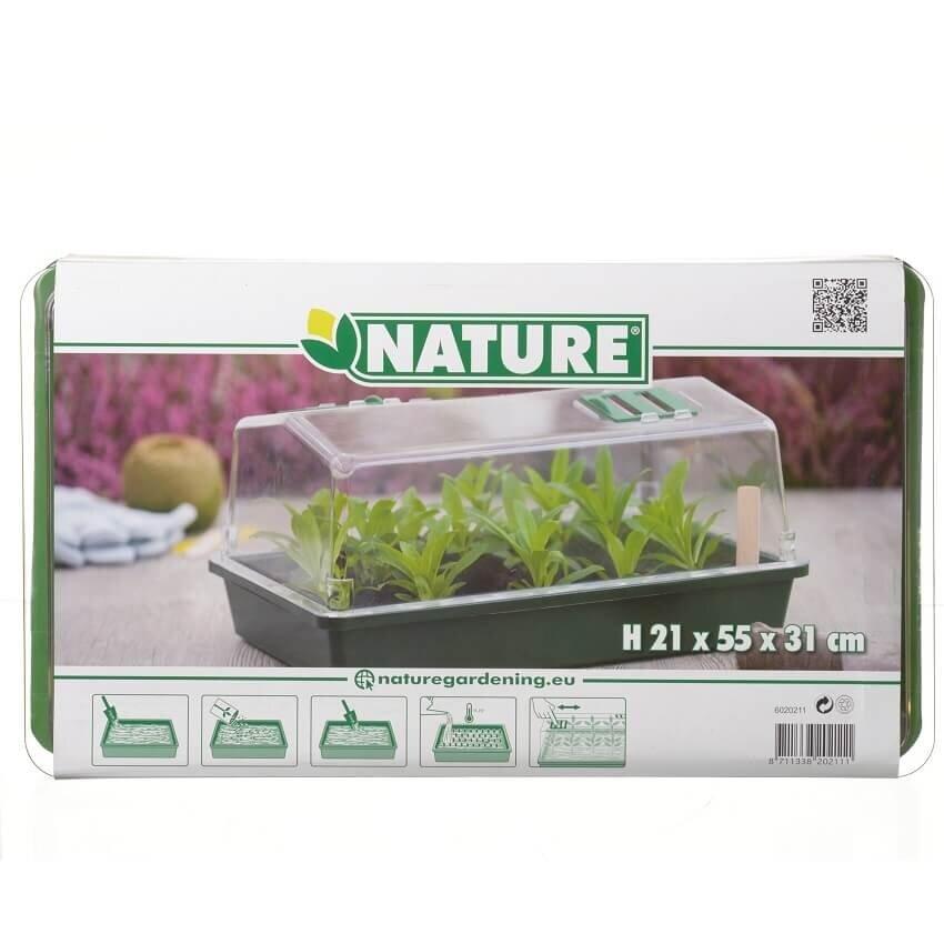 Nature kweekkas met ventilatie (H21 x 55 x 31 cm)