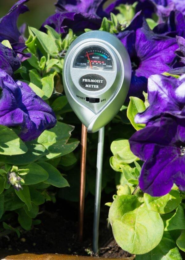 Gebruik Nature pH- en vochtmeter