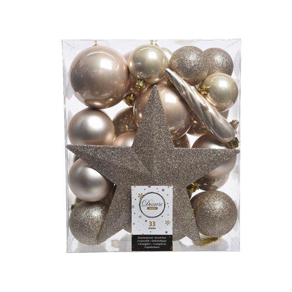 Onbreekbare kerstballen zilver (33 stuks)