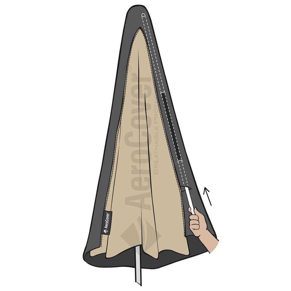 Ingenaaide stok parasolhoes