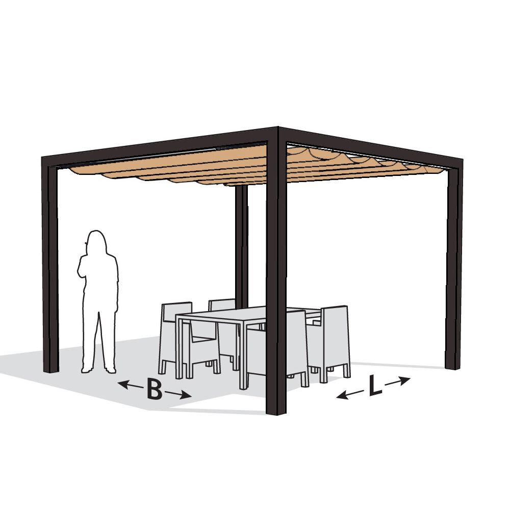 Pergola aluminium antraciet 'Stand Alone' (4.02 x 4.02 meter)