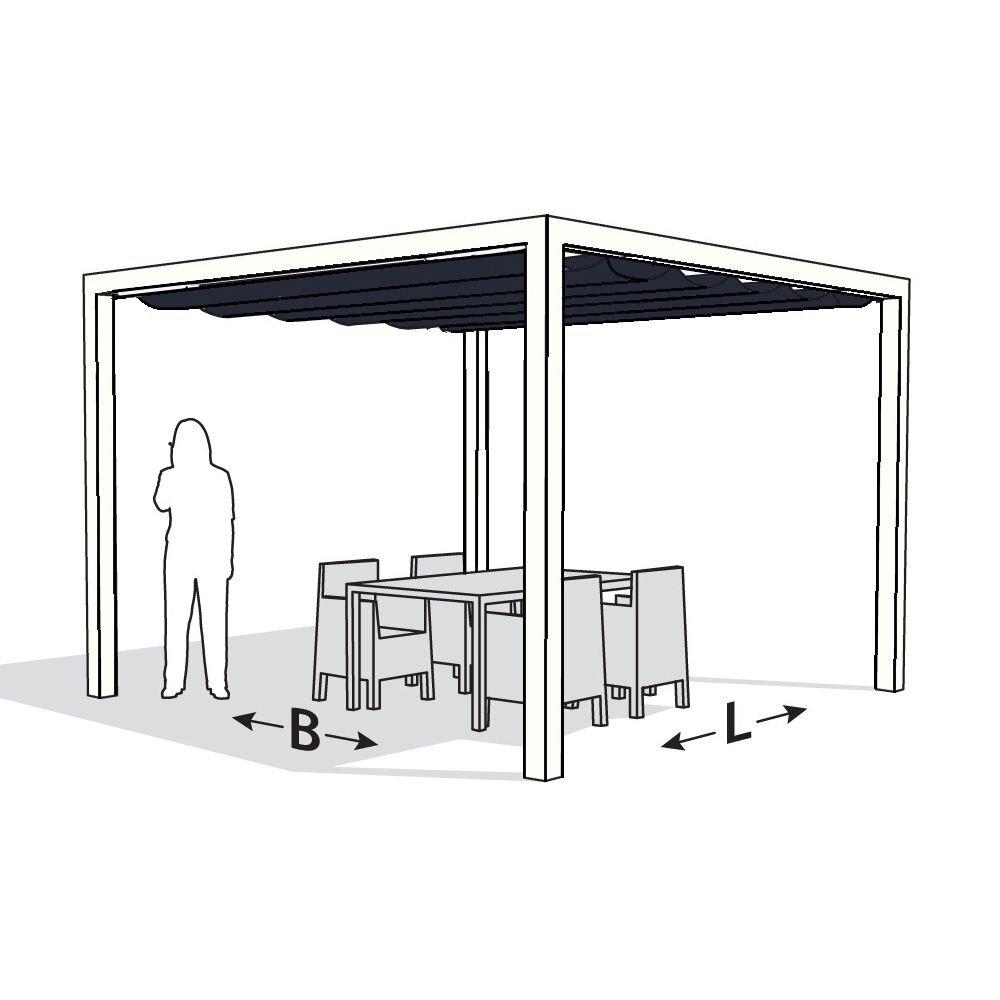 Pergola aluminium wit 'Stand Alone' 3,19 x 4,19 meter