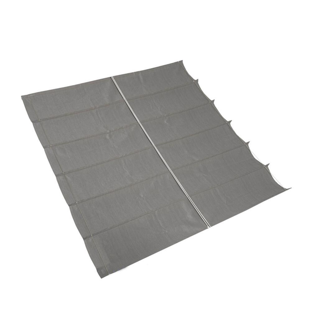 Pergola aluminium wit 'Wall 2' - Antraciet