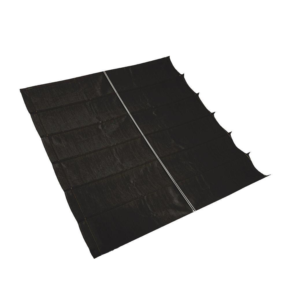 Pergola aluminium grijs 'Wall 2' - Zwart