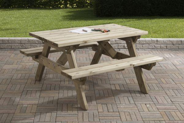 Picknicktafel 120 x 115 cm kinder
