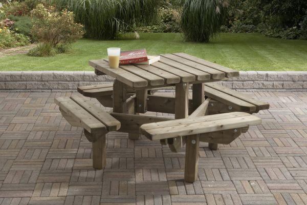Picknicktafel 125 x 125 cm kinder