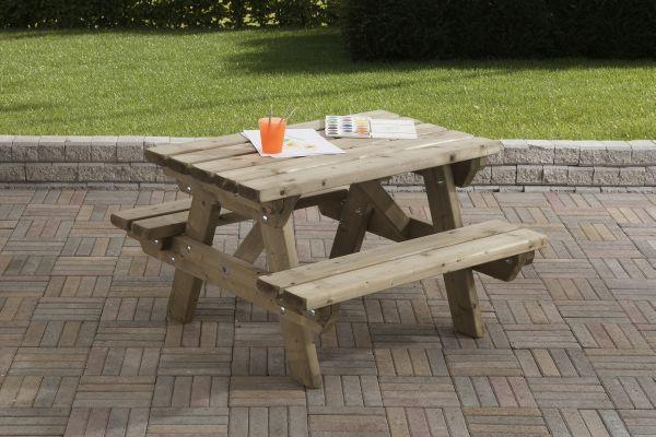 Picknicktafel 90 x 90 cm kinder