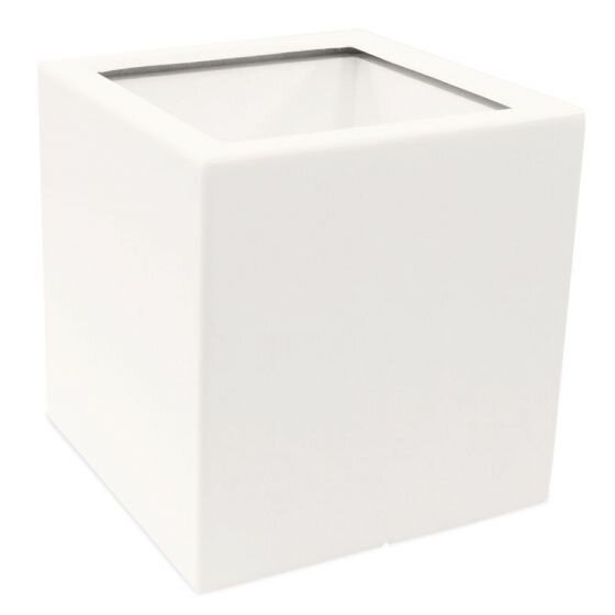 Planter Smooth wit vierkant (60 x 60 x 60 cm)