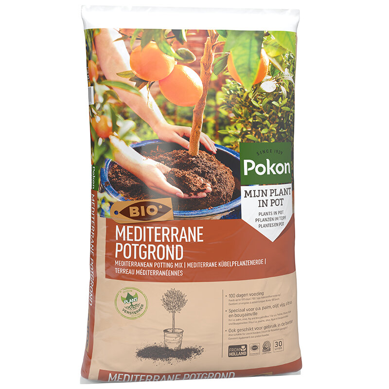 Pokon Mediterrane Potgrond Bio 30 liter