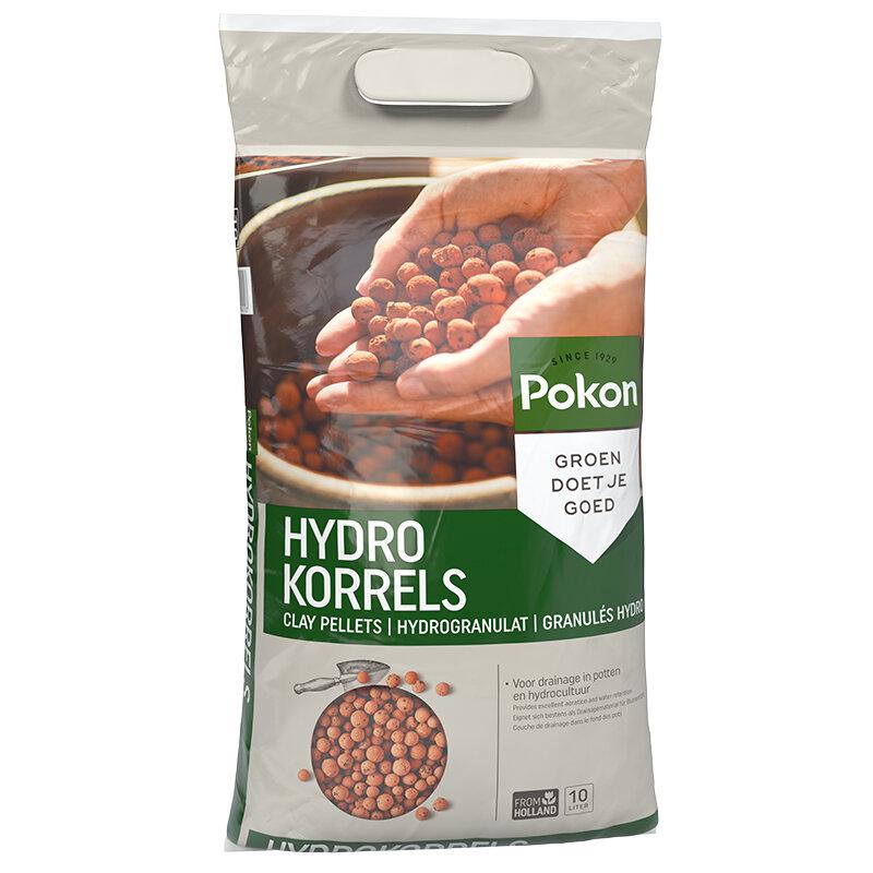 Capi pot vullen met Pokon hydrokorrels