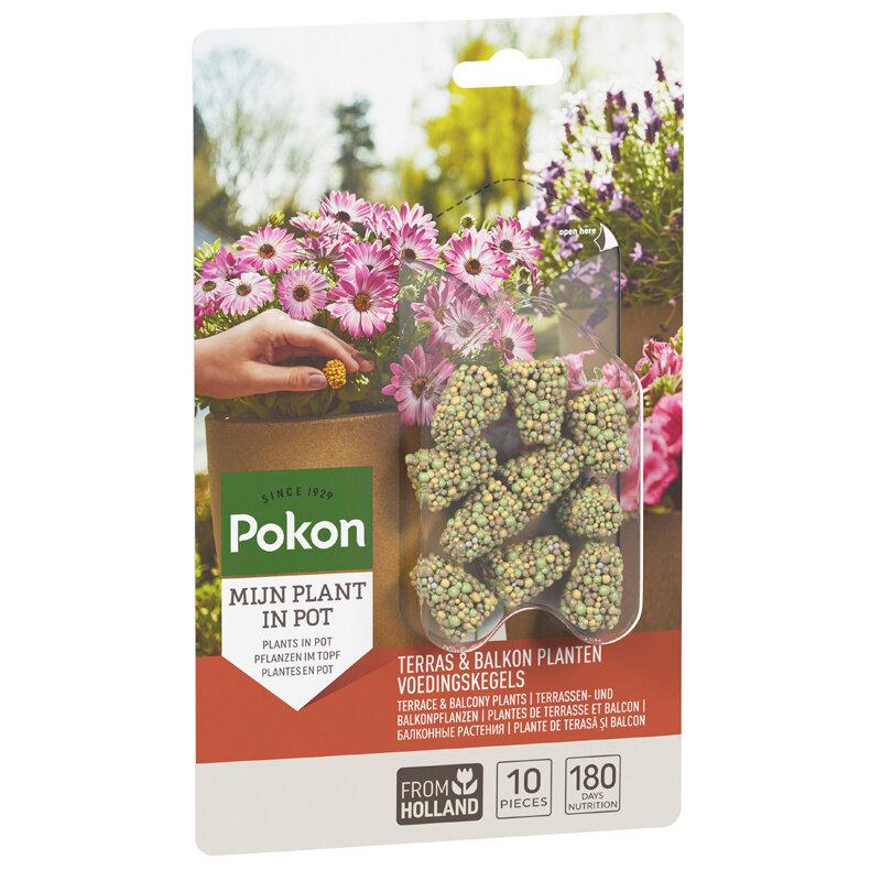 Pokon Terras- en Balkon Voedingskegels 10 stuks