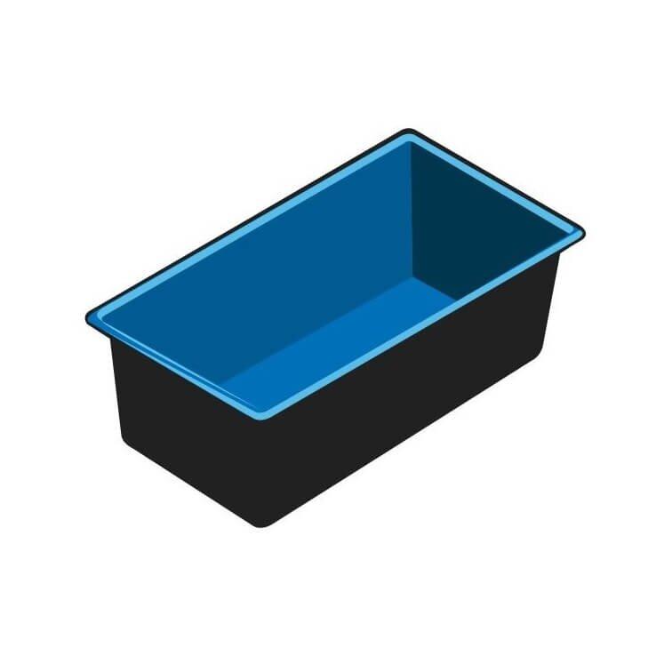 Ubbink vijverbak quadra c3 365l kopen for Houten vijverbak